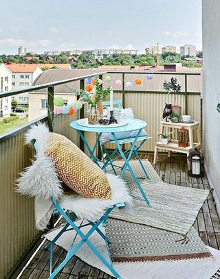 北欧风格清新阳台装修
