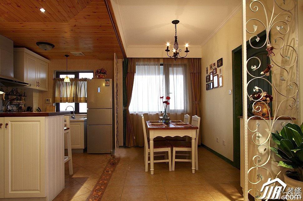 田园风格二居室经济型90平米效果图