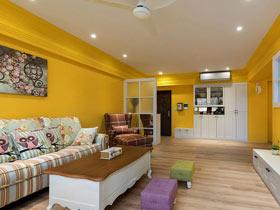 沉浸在色彩中  非常靓丽的简欧风格公寓