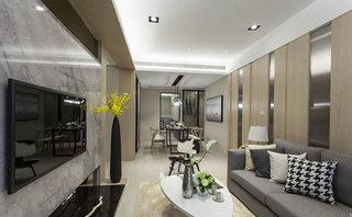 104平米现代简约客厅吊顶设计