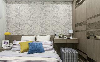浪漫素雅中式卧室背景墙效果图