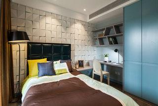138平混搭风格带小书房卧室装修