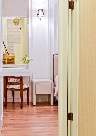 59平美式乡村小户型卧室梳妆台设计图