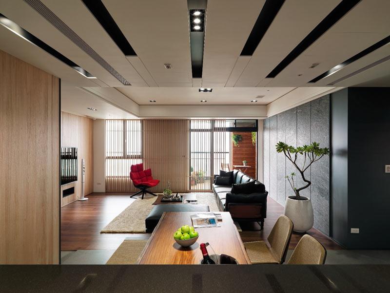 112平米现代前卫黑白餐厅吊顶图
