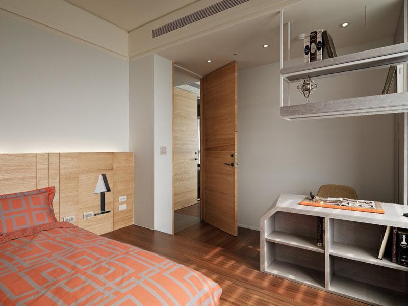112平米现代前卫卧室装饰图片