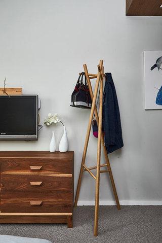 78平北欧复式房晾衣架布置
