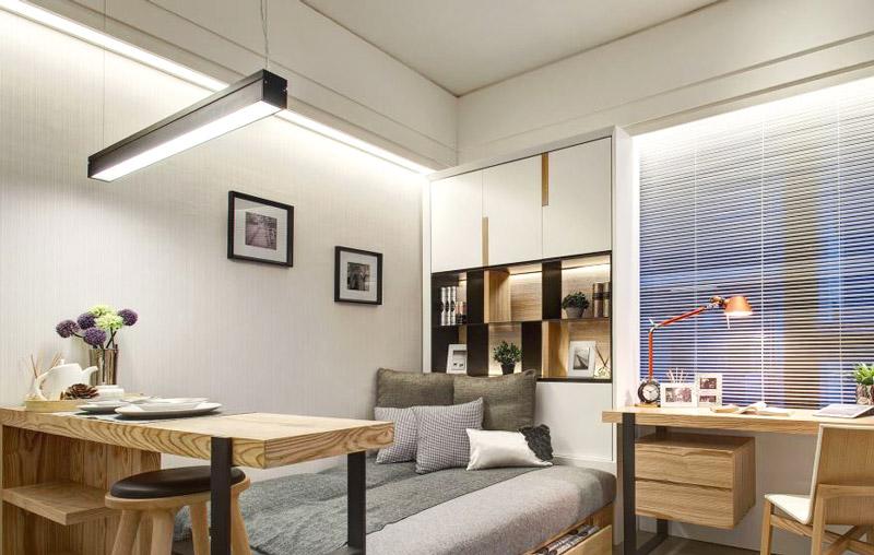 小户型单身公寓卧室装潢图