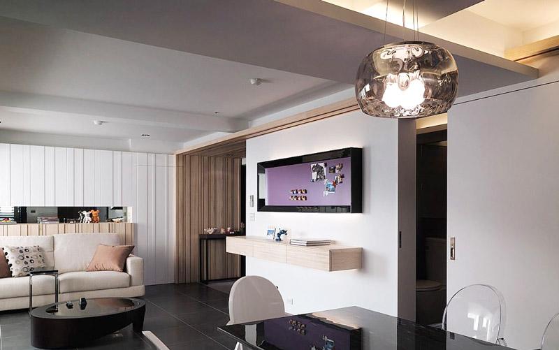 122平三室两厅电视背景墙装修