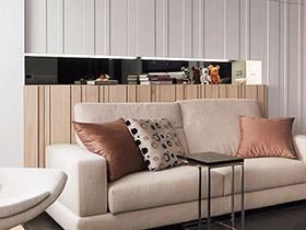 122平三室两厅装修效果图 硬线条下的美感