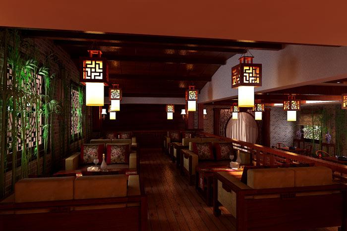 古色古香中式茶楼装修设计效果图图片