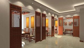 简约中式茶楼装修设计效果图