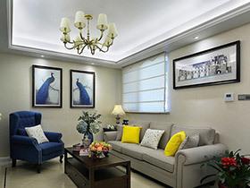 舒适的效果引人注目 这样的美式三居室你喜欢吗