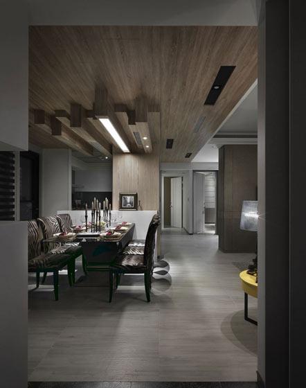 108平米单身公寓餐厅过道设计图