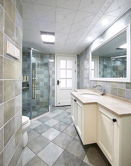美式风格四居室卫生间效果图大全