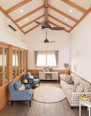 美式风格阁楼客厅设计图