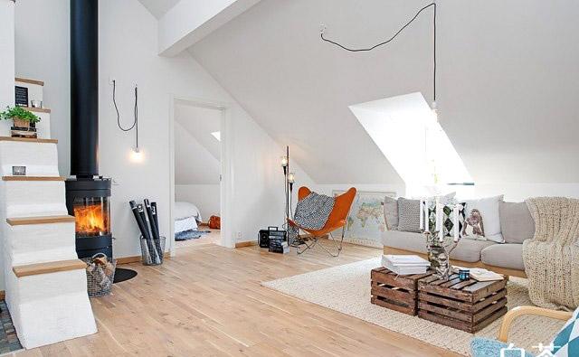 北欧风格阁楼客厅装潢