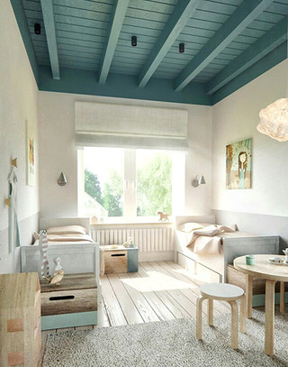阁楼双人卧室设计