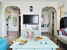 65㎡一居室装修效果图  地中海的小混搭
