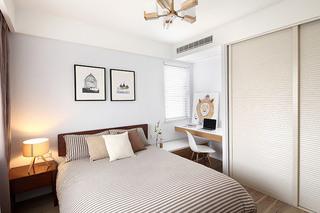 北欧风格三室两厅次卧室装潢图