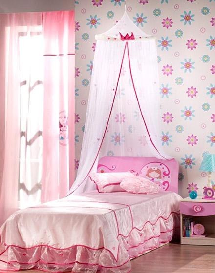 可爱粉色女孩房装修设计