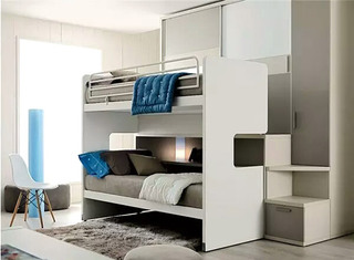 实用儿童房高低床装修