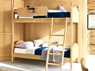 木质儿童房高低床图片