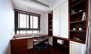 实木简中式书房装饰效果图