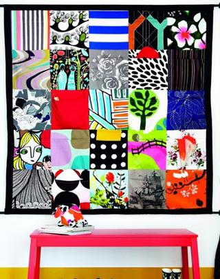 创意民族风布艺背景墙图片