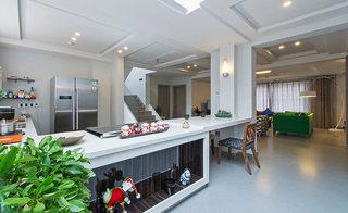白色现代简约风 厨房吧台效果图