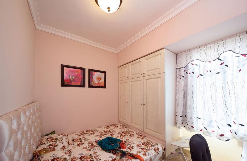 简约田园风 甜美粉色系卧室效果图