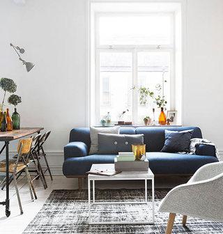 55平米北欧瑞典公寓客厅装修效果图