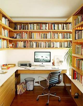 木质转角书桌效果图大全