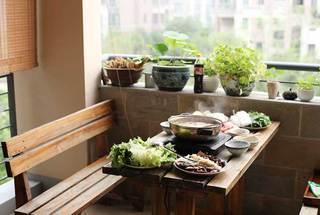 阳台餐桌创意设计实景图