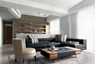 210平现代简约客厅设计装修图