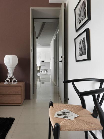 210平现代简约卧室走廊效果图设计