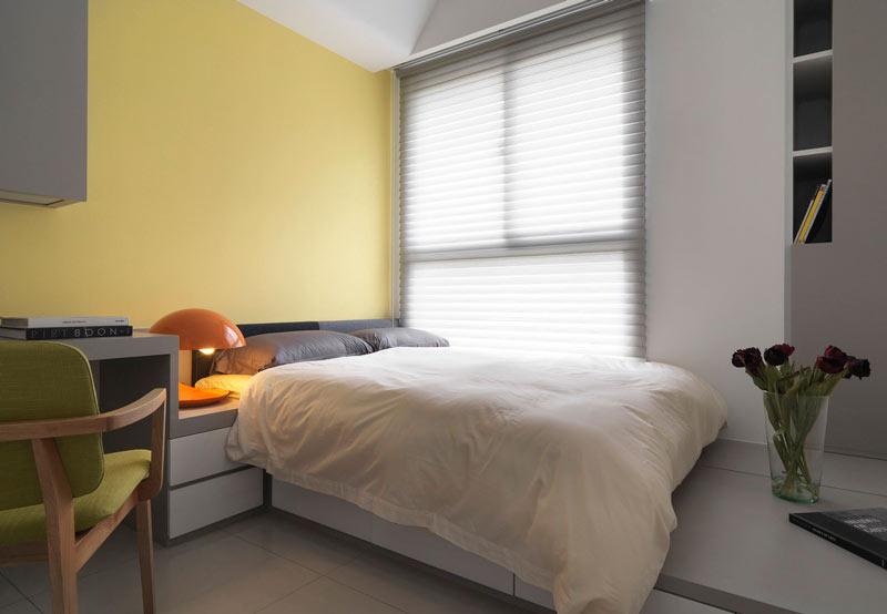 温馨暖黄色 简约风卧室效果图