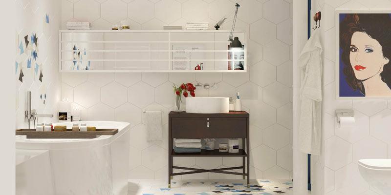 舒适简洁北欧风卫生间装饰图片