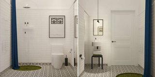60平方小户型卫生间瓷砖效果图装修