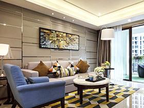 77平两居室现代风格装修 投射青春活力