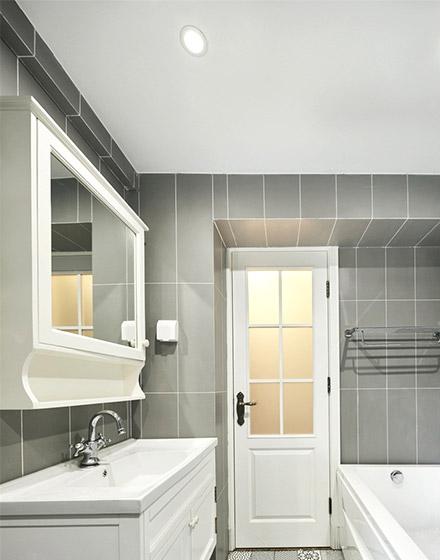 田园风格三居室卫生间设计