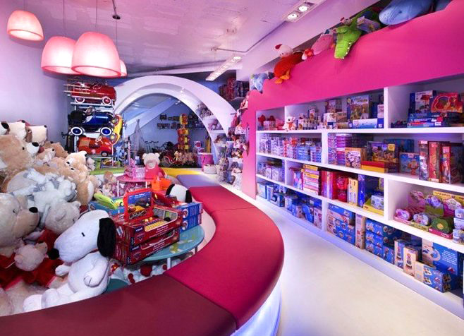可爱儿童玩具店装修设计图