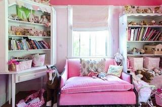 粉色系书房设计参考图
