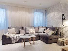 65平波兰北欧风格小户型装修 明亮舒适小复式公寓