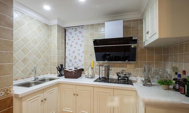 90平波普风格厨房装修设计效果图