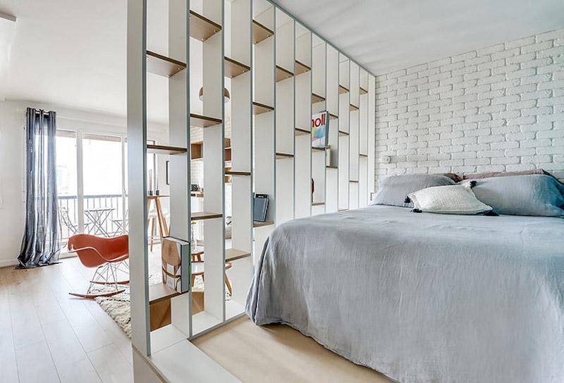 27平米超小户型地台卧室床效果图