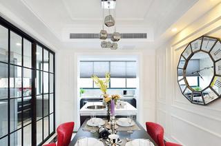132平米混搭三居室餐厅装修图片
