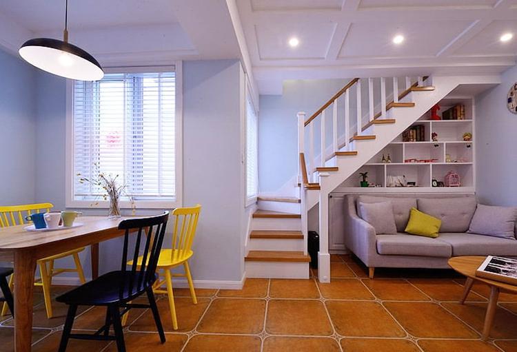 温馨北欧小复式楼梯设计图片