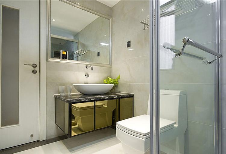 时尚现代风卫生间 淋浴房隔断设计