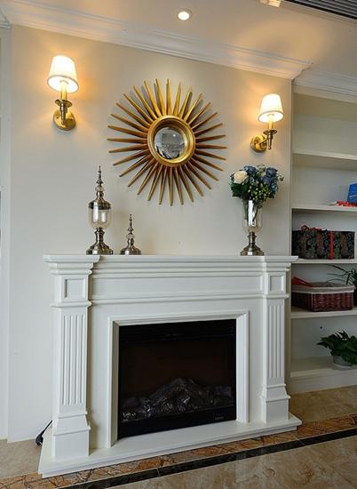 古典美式家居 精美壁炉效果图