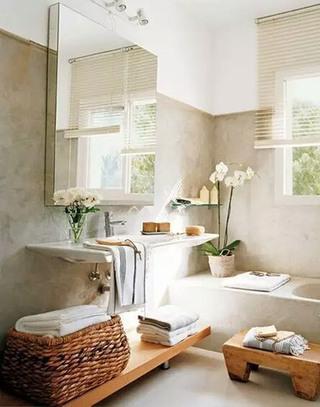 温馨卫生间洗手区装饰图片